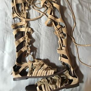 Free People suede gladiator sandals